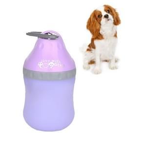 Huisdieren gaan uit draagbare vouwende ketel drinkende drinkwatervoorziening  grootte:L (Paars)