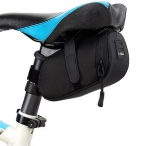 3 Color Nylon Bicycle Bag Bike Waterproof Storage Saddle Bag Cycling Tail Rear Pouch Bag(Black)