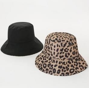 Katoen Bucket Hat dubbelzijdig wearable visser hoed (zwart)
