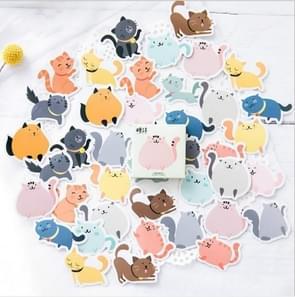 2 stuks dieren kat zelfklevende stickers hand gemaakte albums decoratieve zeehonden