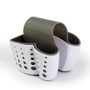 Keuken kunststof opslag manden drain spons drainage rek opknoping tas (wit)