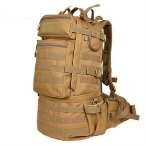 Waterproof Nylon Backpack Shoulders Bag Outdoors Hiking Camping Travelling Bag  Capacity:45L(Khaki)