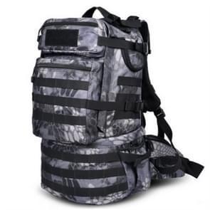 Waterproof Nylon Backpack Shoulders Bag Outdoors Hiking Camping Travelling Bag  Capacity:45L(Black Python)