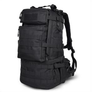 Waterproof Nylon Backpack Shoulders Bag Outdoors Hiking Camping Travelling Bag  Capacity:45L(Black)