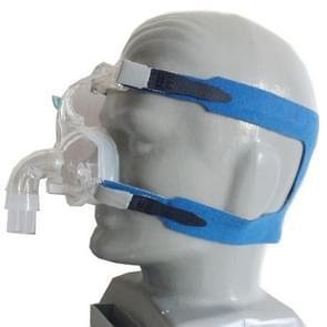 Ventilator Masker Vierpunts hoofdband zonder neusmasker voor Philips Wellcome / Resmy / Remart / Yuyue Ventilator(GrijsBlauw)