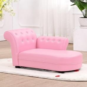 Mode kleuterschool lederen kunst kind zetel kinderen sofa stoel spons fauteuil (lichtroze)