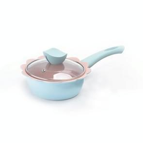Baby gratis voedsel pot koken melk pan Maifan steen non stick huishoudelijke multifunctionele kleine pot  kleur: blauwe melk pan met deksel