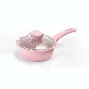 Baby gratis voedsel pot koken melk pan Maifan steen non stick huishoudelijke multifunctionele kleine pot  kleur: roze melk pan met deksel