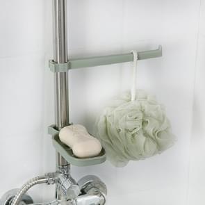 2 stuks badkamer toilet gratis Punch handdoek rack kraan clip Soap Box (blauw)