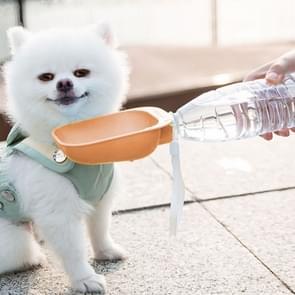 Pet Square Bowl Drinken Head Cat Portable Begeleidende Cup Dog Drinking Fountain (Roze)