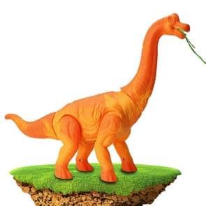 Elektrische dinosaurussen Walking Lighting Lay Eggs Project Kleine Brachiosaurus Simulatie Animal Model Toys (Orange)