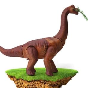 Elektrische dinosaurussen Walking Lighting Lay Eggs Project Kleine Brachiosaurus Simulation Animal Model Toys (Bruin)