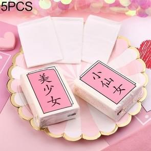 5 PCS Cute Girl Heart Pink Girl Style Servet Gezichtsweefsel Zakdoek Papier
