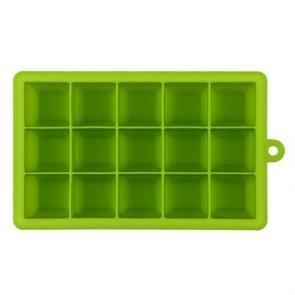 15 rasters DIY grote ijs kubus schimmel vierkante vorm siliconen ijs lade fruit ijs maker (groen)