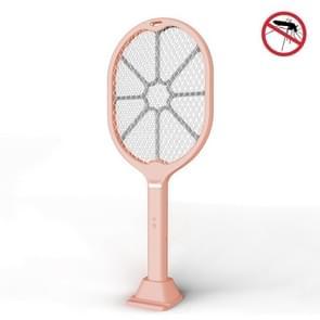 Huishouden Indoor Multi-functie Dual-purpose LED Mosquito Killer Charging Handle Electric Mosquito Swatter (Pink)