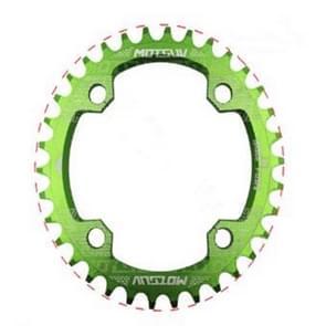 MOTSUV ronde smalle brede Chainring MTB fiets 104BCD tand plaat onderdelen elliptische plaat 38T (groen)