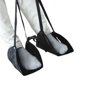 Voet hangmat voetpad voor lange afstand Aircraft Travel (Zwart)