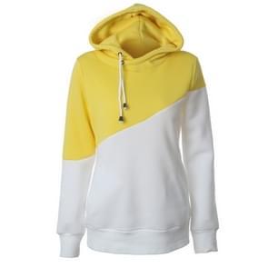 Vrouwen trui bijpassende koord Hooded Pocket trui jas vrouw  grootte: L (geel)