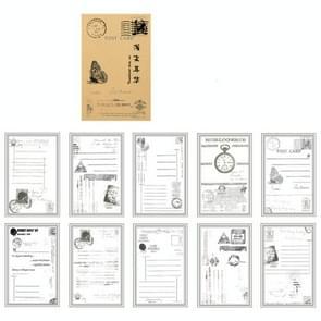2 PC'S vintage lederen Opmerking papier seizoen einde serie creatieve doorschijnend hand item materiaal decoratie (de verloren brief)