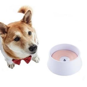 Hond Drinkwater Hond Pot Niet Natte Mond Splash Water Grote Capaciteit Drijfvermogen Hond?? Kom(Roze)
