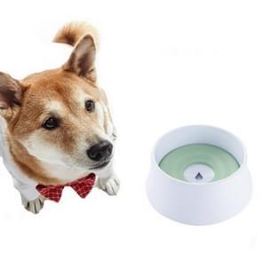 Hond Drinkwater Hond Pot Niet Natte Mond Splash Water Grote Capaciteit Drijfvermogen Hond?? Kom(Groen)