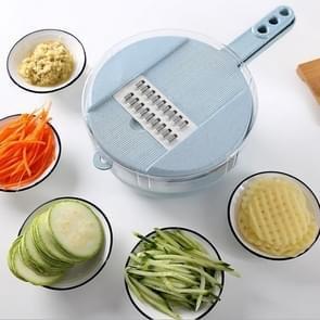 6 in 1 slicer multifunctionele snijden voedsel aardappel wortel Veggie rasp chopper keuken snij machine kaas rasp (blauw)