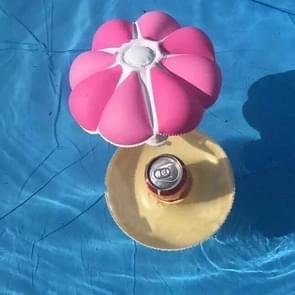 PVC Kleine Paraplu Opblaasbare Bekerhouder Water Single Hole Mushroom Cup Holder (Rood)