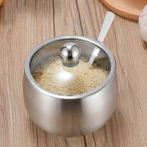 Roestvrijstaal kruiden jar set huis keuken kruiden vak combinatie  specificatie: Gourd kruiden jar trompet