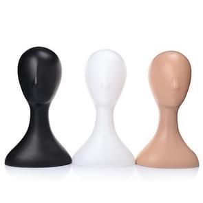 Vrouwelijke kunststof Mannequin PROEFPOP hoofd Model schuim pruik haar glazen Display Stand White/Black/Natural(Black)
