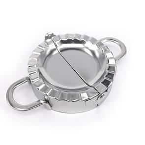 RVS knoedel Maker deeg Cutter Dumpling Mould keuken accessoires gebak tools  specificatie: grote 9.7 cm met witte doos