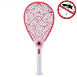 LED oplaadbare elektrische mug swatter Big Net Surface Electronic Mosquito Killer  Specificatie: CN Plug (Rood)