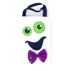 2 stuks Halloween decoratie stof vilt draagbare opbergtas kinderen Trick or Treat Sugar Candy tas  grootte: D sectie wit