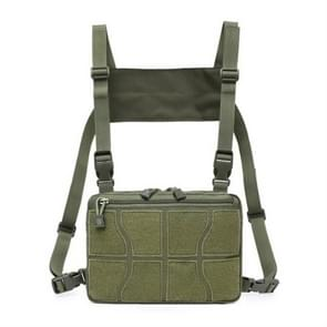 Multifunctionele Chest Bag voor Outdoor Sports Portable Storage Backpack (Army Green)