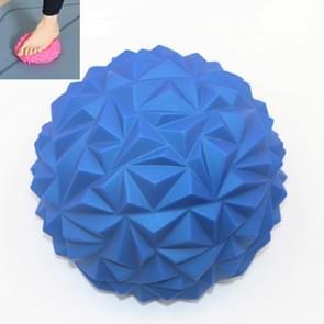 Voetmassage balans training ball fitness yoga bal  grootte: 16 x 8cm (Blauw)
