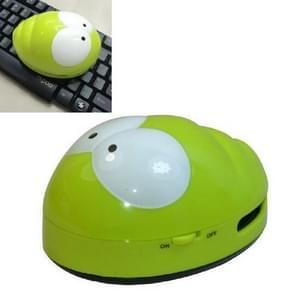 Draagbare schattige mini kever Desktop Keyboard Cleaner (groen)