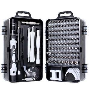 110 in 1 Magnetische pruim schroevendraaier mobiele telefoon demontage Reparatie Tool (Zwart)