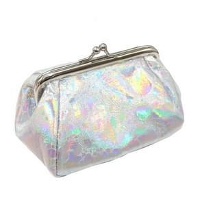 Creatieve grote capaciteit opslag tas laser munt portemonnee cosmetische tas (Zilver)