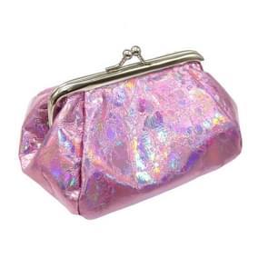Creatieve grote capaciteit Opslag Bag Laser Coin Portemonnee Cosmetische Tas (Rose Red)