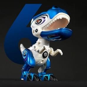 Legering mechanische dinosaurus joint beweegbare riem geluid en licht speelgoed model (blauw)