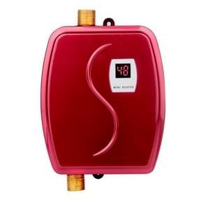 3800W mini elektrische tankless Instant warm water kachel badkamer keuken wassen water boiler huishoudelijke keukenapparaat  stekker: 220V EU stekker (rood)