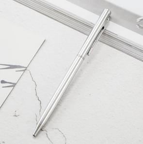 Metalen balpen Office Briefpapier Business plated teken pen  geschreven: Bullet type 1.0 (zilver)