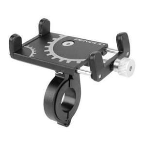 Batterij elektrische voertuig motorfiets paardrijden navigatie aluminiumlegering mobiele telefoon beugel (zwart)