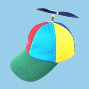 Kleur-blok kinderen Baseball Cap piek Cap met propeller  willekeurige kleur levering  grootte: S (54-56cm) (kleur matching)