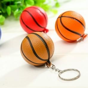 5 stuks plastic mini basketbal sleutelhanger mannen autosleutel hanger sport souvenir Holiday Gift willekeurige kleur levering (zoals weergeven)