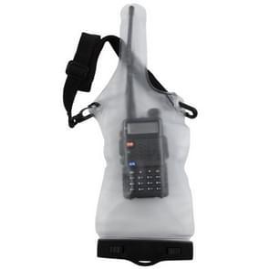 Walkie Talkie Waterproof Bag met Lanyard (met uitzondering van Walkie Talkie)(Matte Translucent)