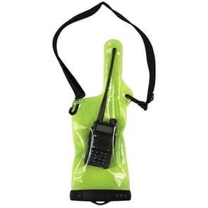 Walkie Talkie Waterproof Bag met Lanyard (exclusief Walkie Talkie)(Groen)