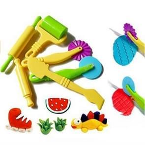 Kleur plasticine tool Clay schimmel instellen voor kinderen DIY speelgoed (6 delige set)
