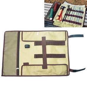 Grote Outdoor Camping Ground Nail Storage Bag Hammer Toolkit Bag (Kaki)