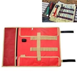 Grote Outdoor Camping Ground Nail Storage Bag Kit Toolkit Bag (Rood)