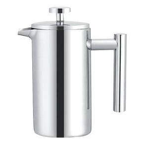 304 Roestvrij staal Franse druk koffiepot hand gemaakt theepot  capaciteit: 1000ml